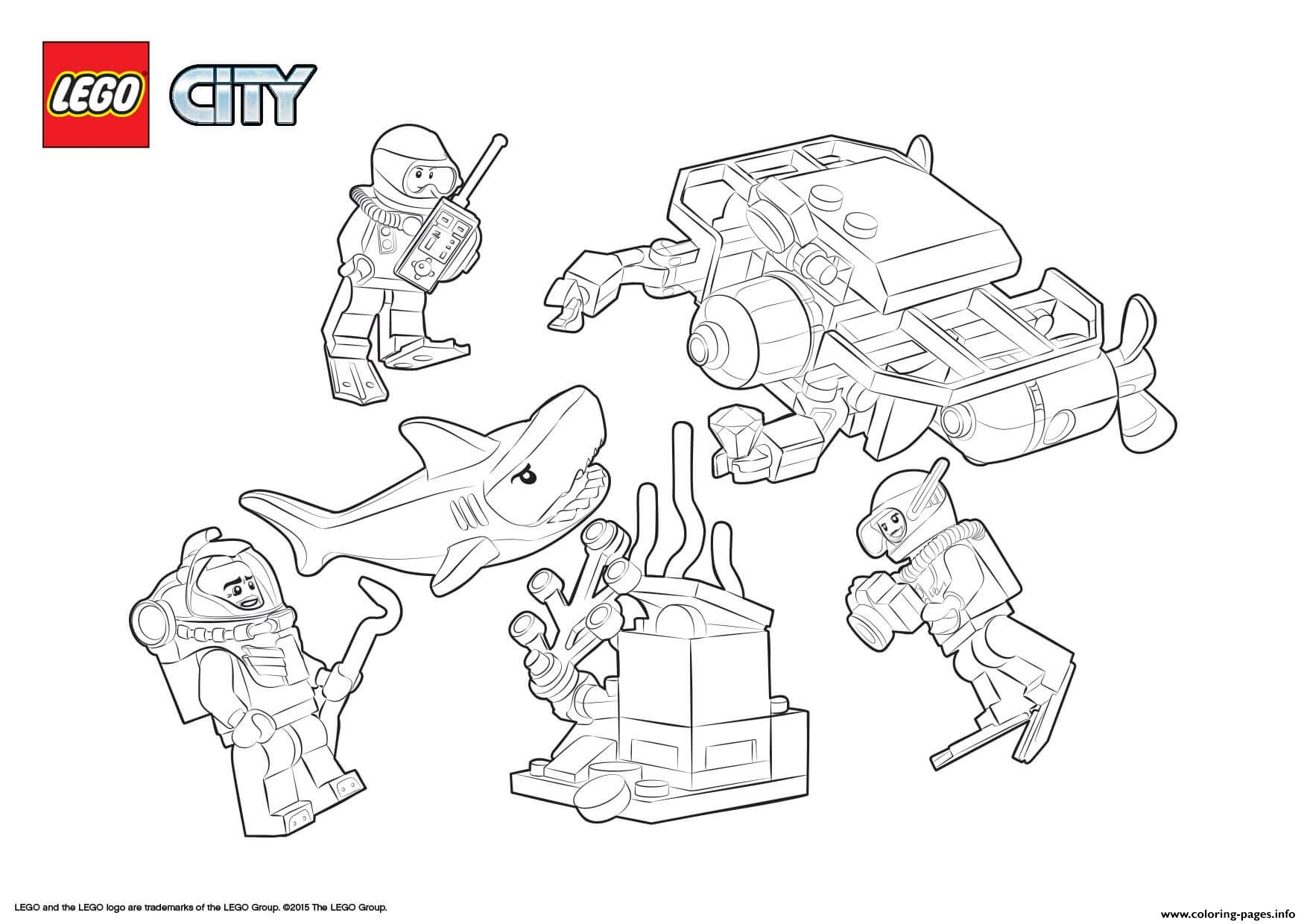 Lego City Deep Sea Starter Set coloring pages