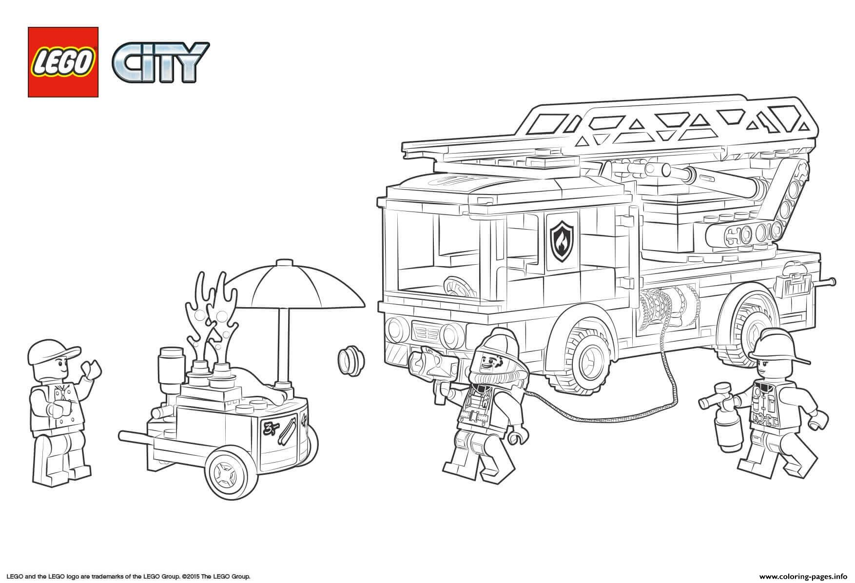 Lego City Fire Station coloring pages