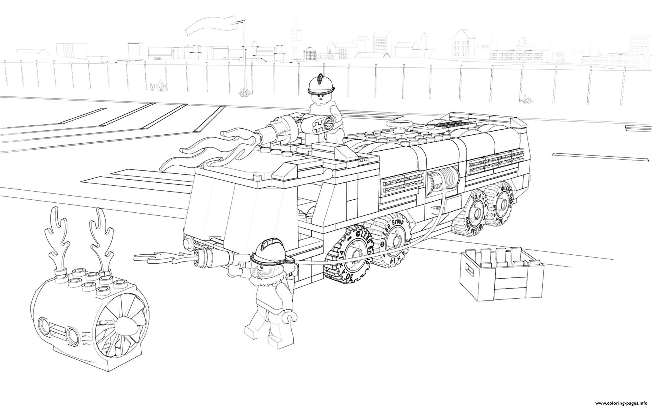 Lego City Firefighter Fire Truck coloring pages