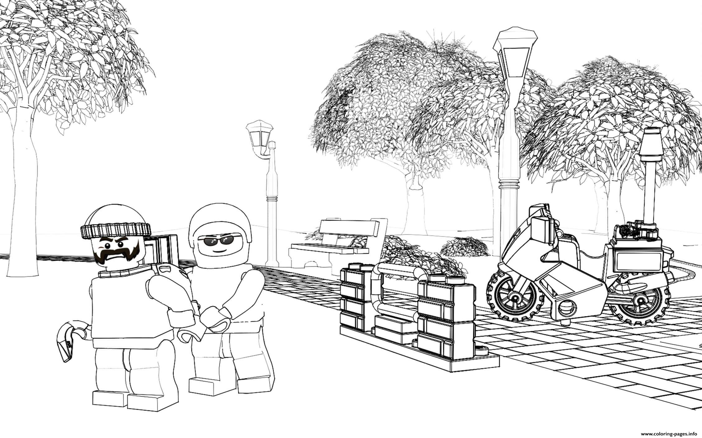 Lego Police Crook Pursuit coloring pages