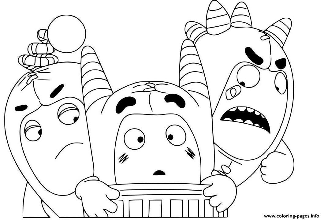 Cute Oddbods coloring pages