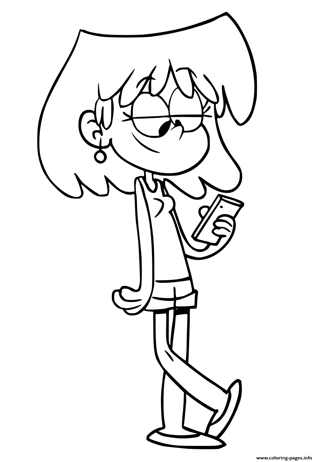 Printable Lori Loud coloring pages