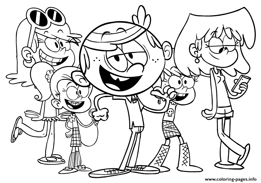 - Loud House Coloring Pages Printable