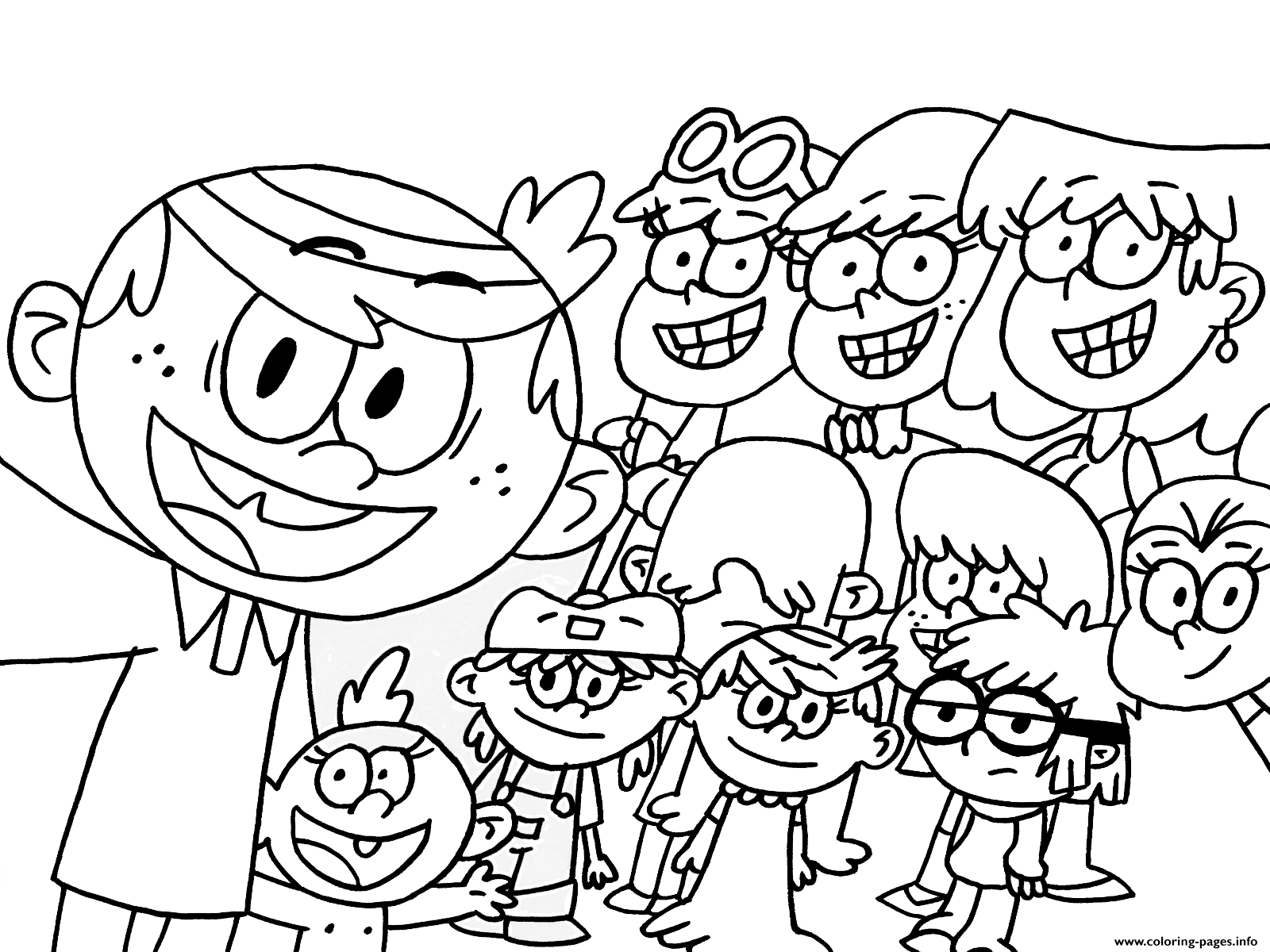 The Loud House Cartoon Kids coloring pages