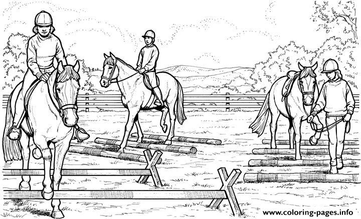 Horses Riders coloring pages