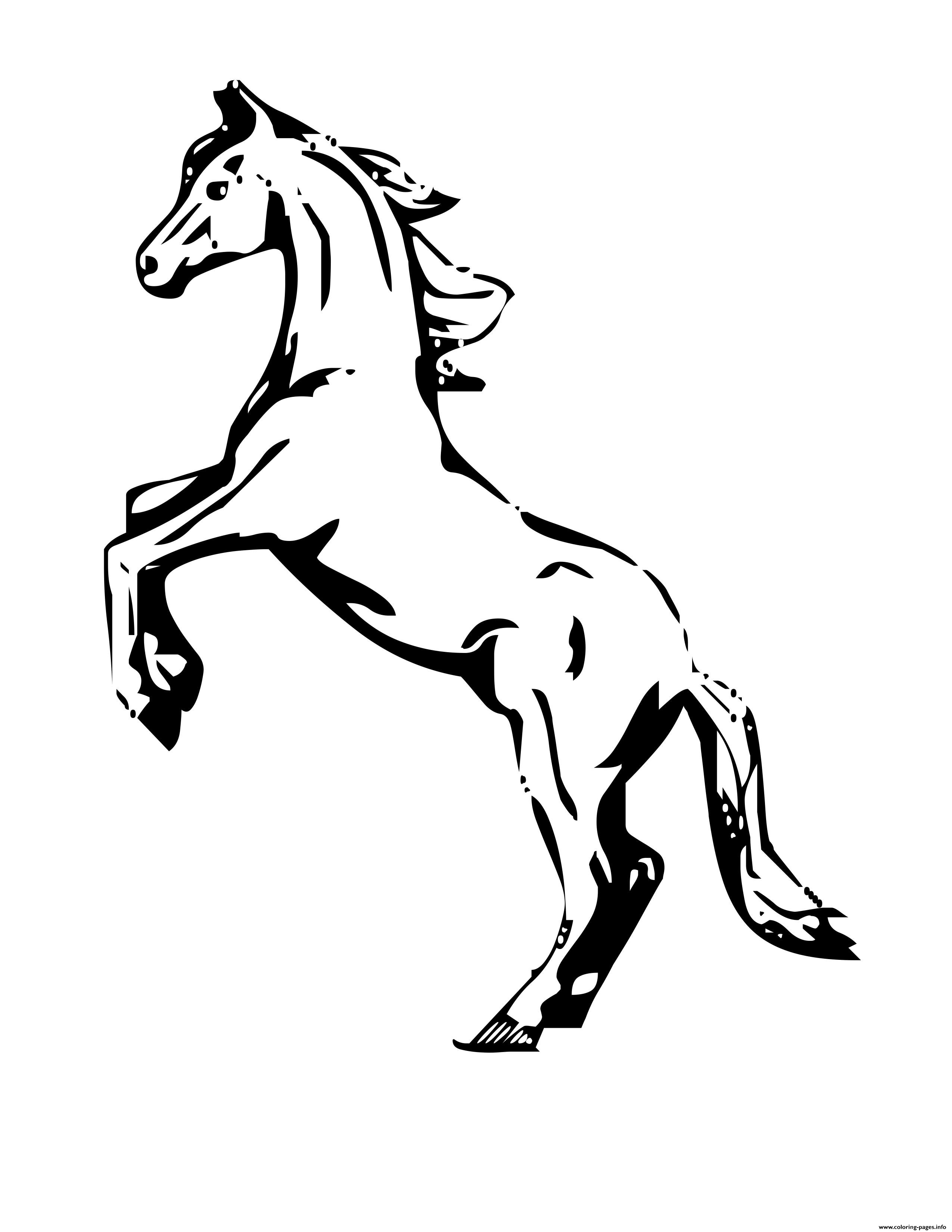 Rearing Horse Coloring Pages Printable