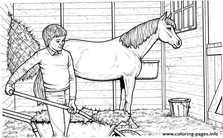 Shoveling Stalls coloring pages