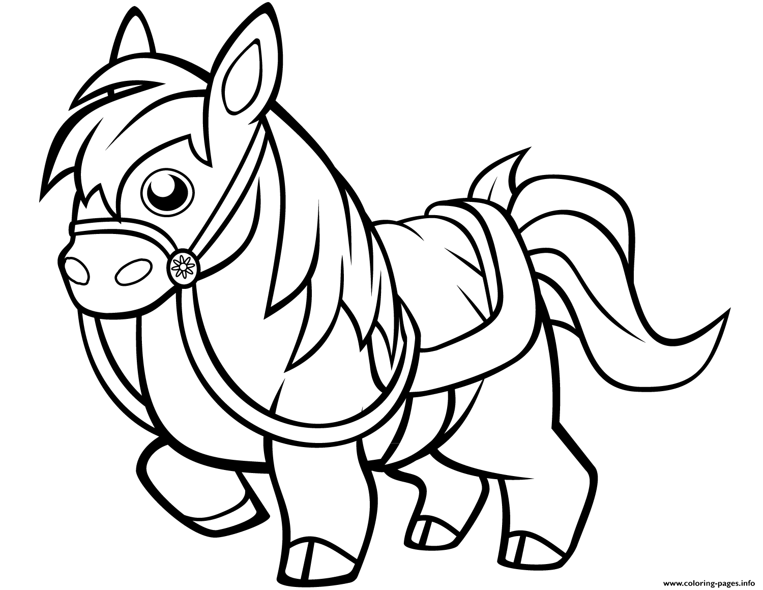 Funny Horse For Kids Coloring Pages Printable