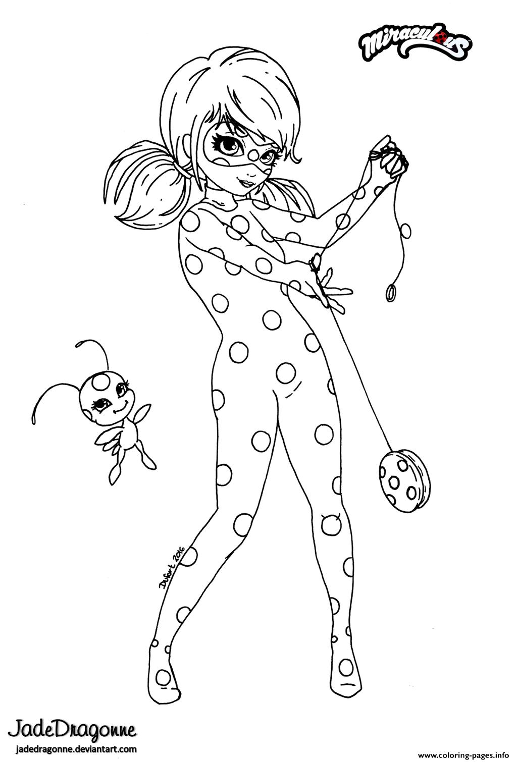 Miraculous Ladybug Anime Par Jade Coloring Pages Printable
