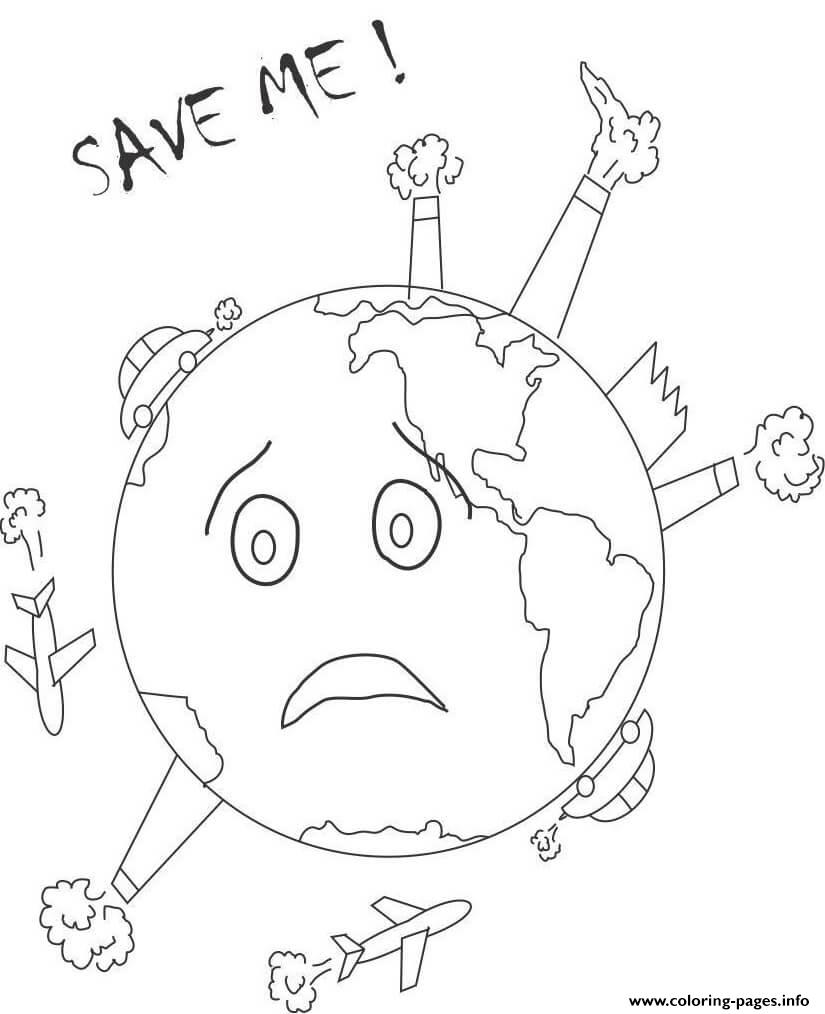 Earth Day Save Me coloring pages