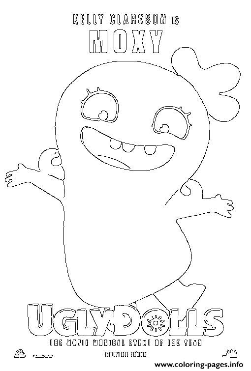 coloring pages of ugly dolls | Kelly Clarkson Is Moxy Uglydolls Coloring Pages Printable
