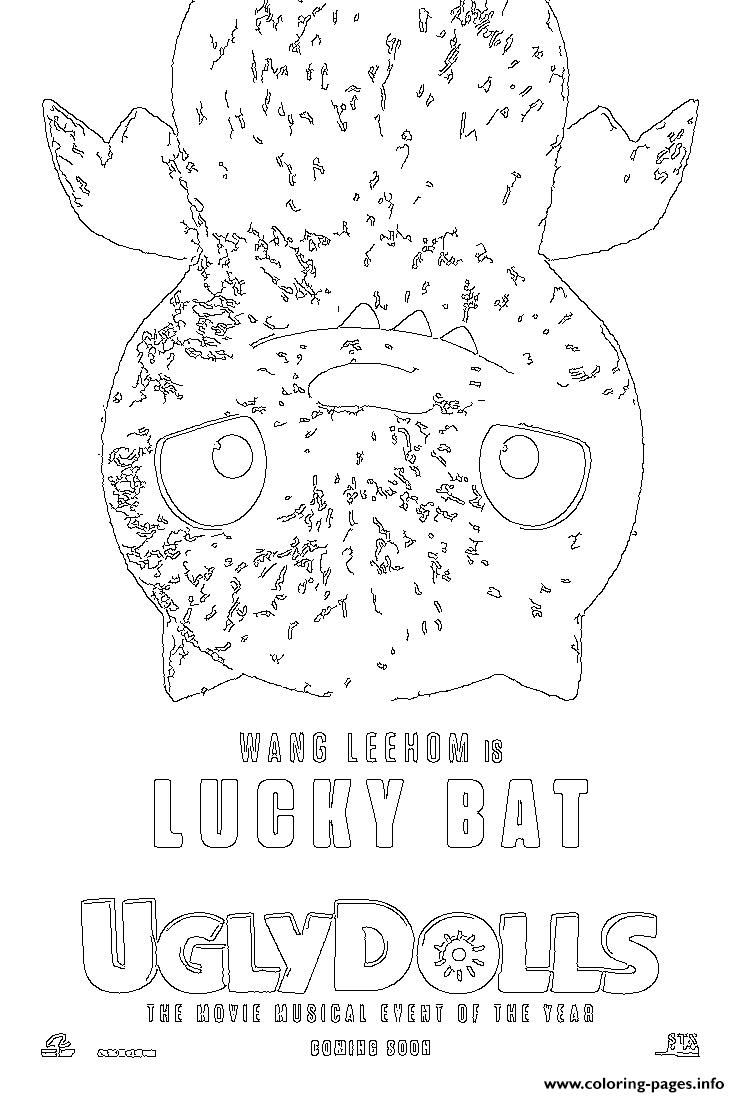Lucky Bat Uglydolls Coloring Pages Printable
