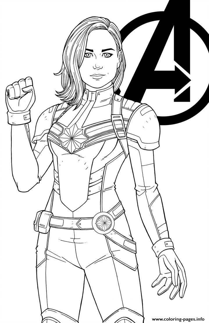 Captain Marvel By Jamiefayx Coloring Pages Printable