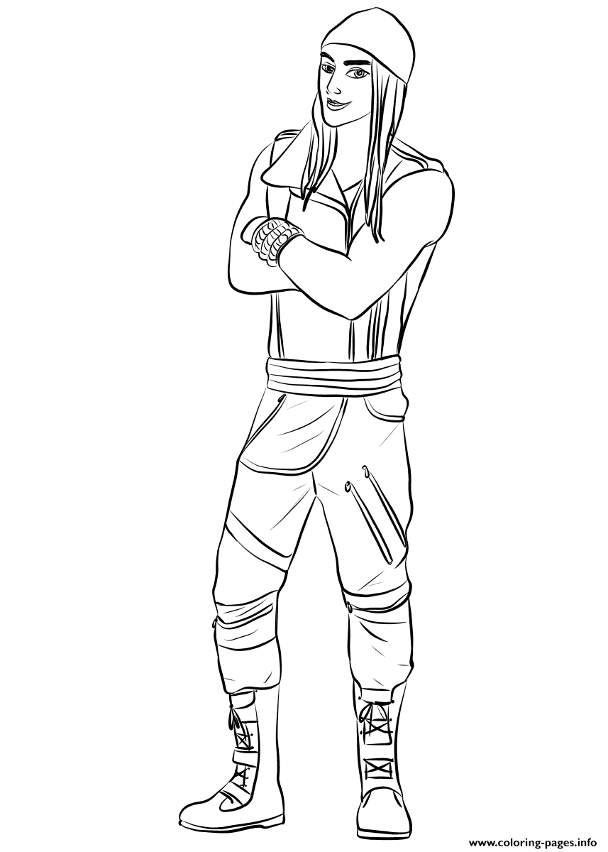 Coloring pages jayjay ~ Jay From Descendants Coloring Pages Printable