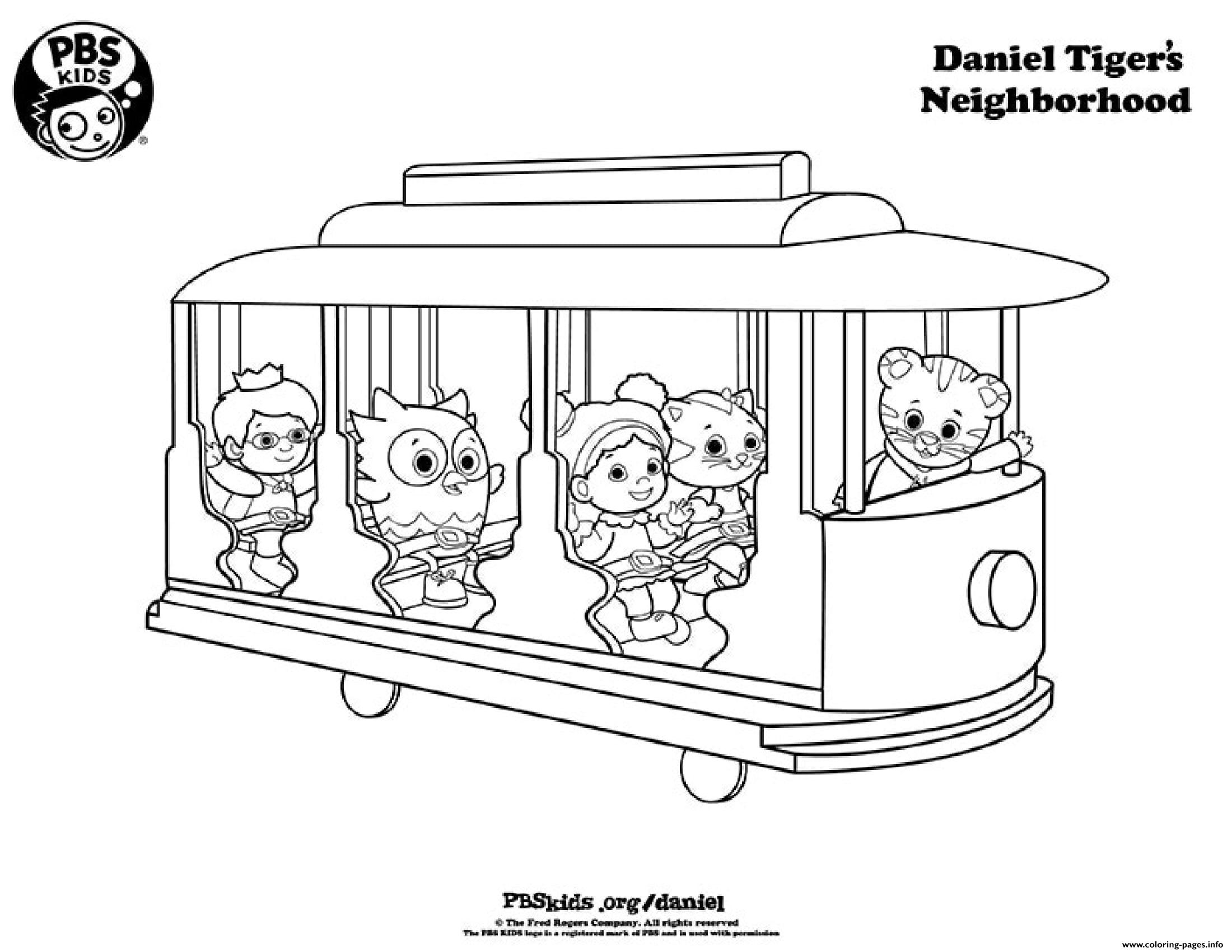 picture about Daniel Tiger Printable named All In just The Prepare Daniel Tiger Coloring Web pages Printable