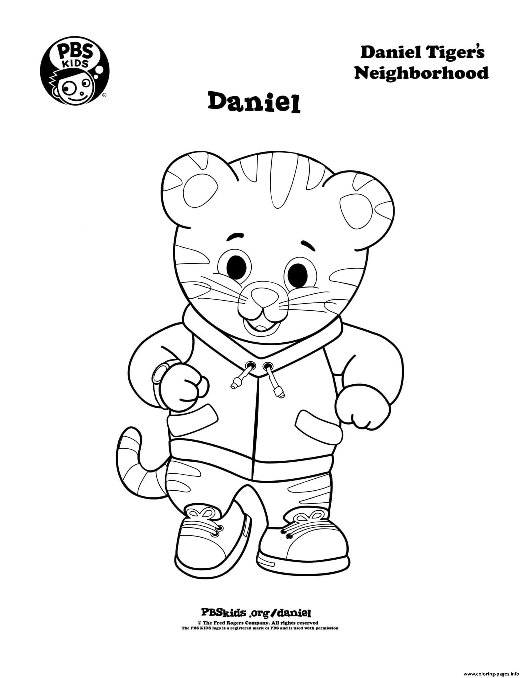 Daniel Tiger Min coloring pages