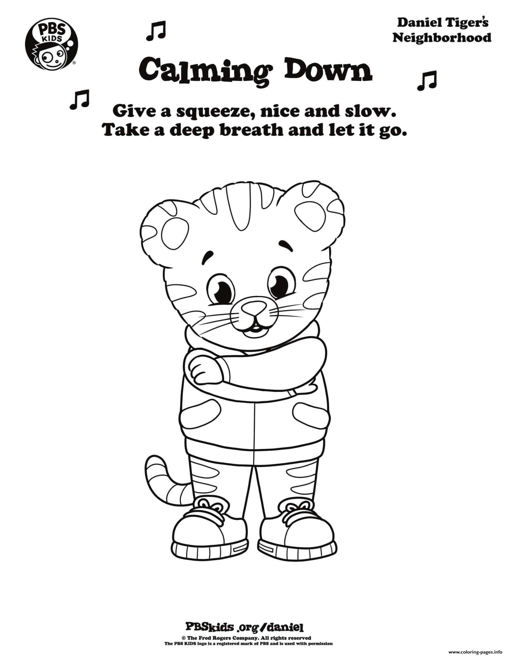 image about Daniel Tiger Coloring Pages Printable referred to as Comforting Down Daniel Tiger Min Coloring Internet pages Printable