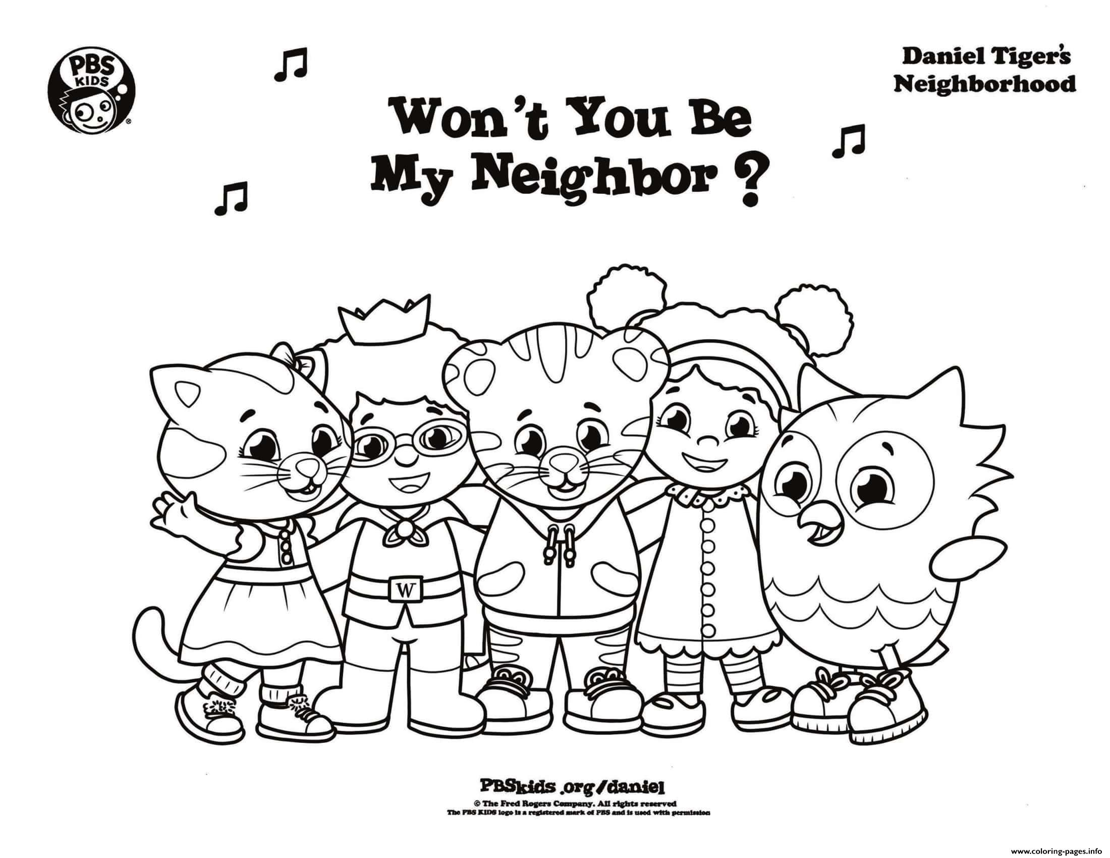 Neighborhood Coloring Page - Coloring Home | 1700x2200