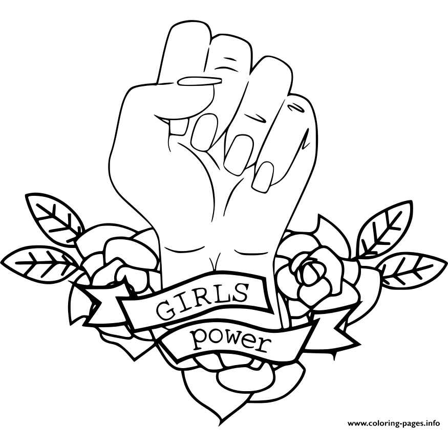 Girls Power Resist Coloring Pages Printable