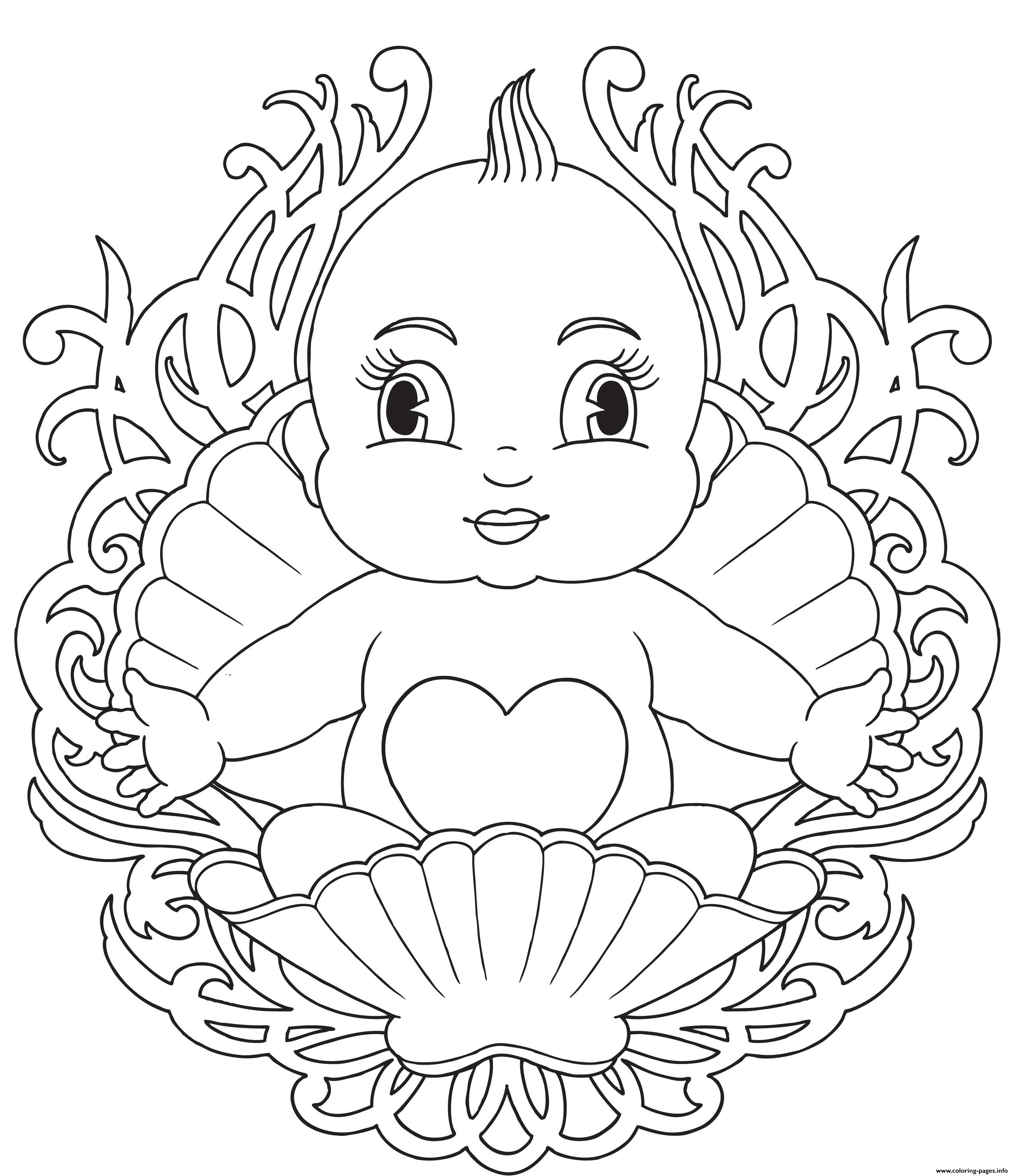 Baby Mandala coloring pages