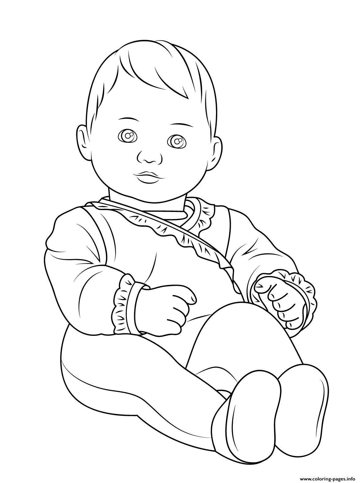 Baby Girl Coloring Pages - GetColoringPages.com | 1575x1175