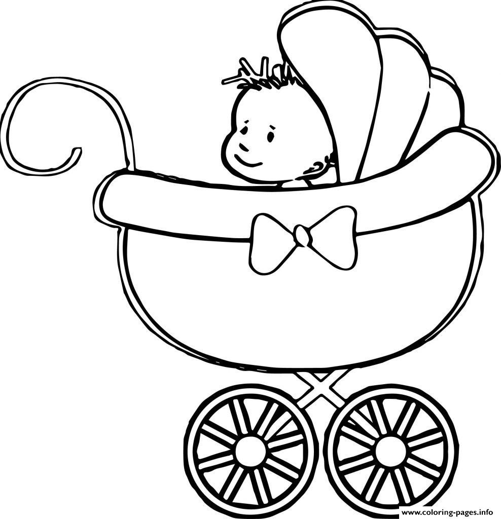 Baby Stroller Coloring Pages Printable