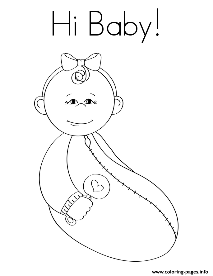 Hi Baby coloring pages