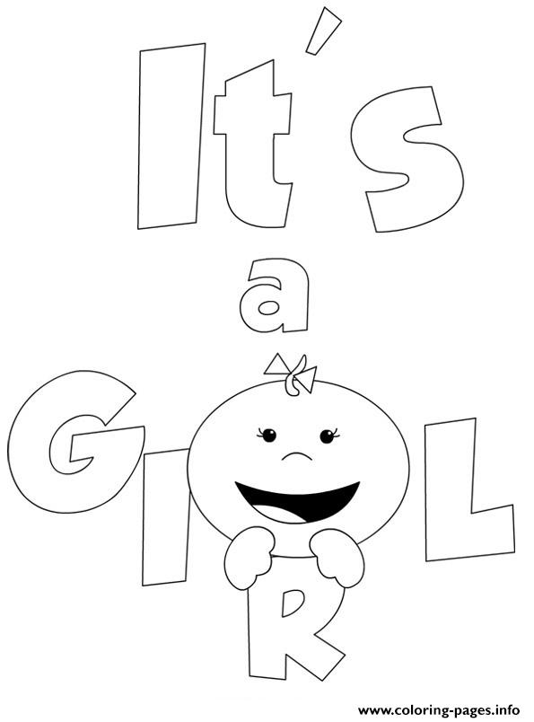 Its A Baby Girl coloring pages