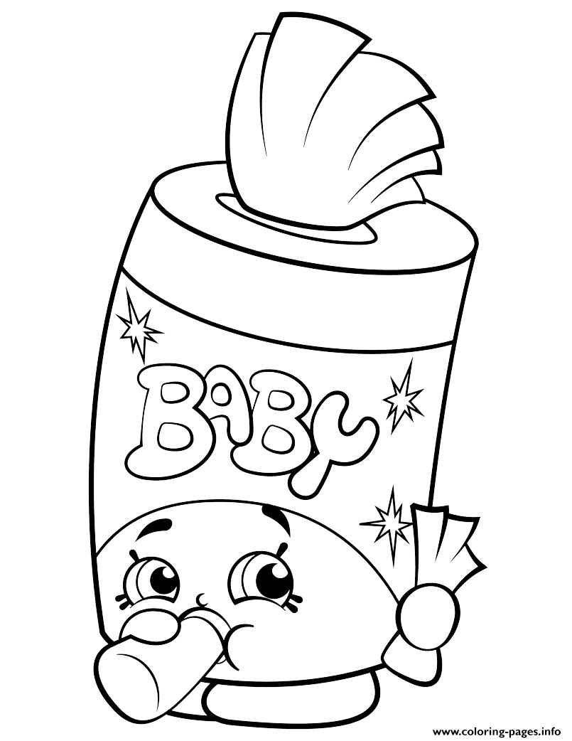Baby Swipes Shopkin Coloring Pages Printable
