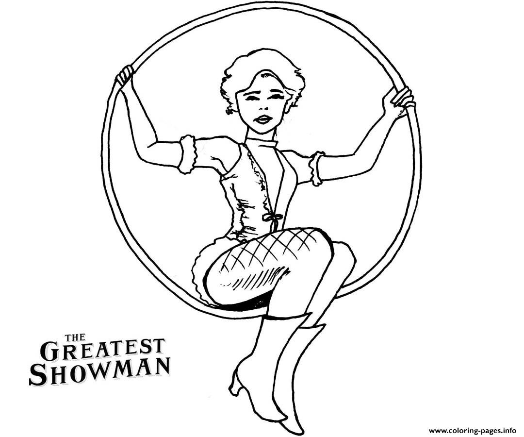 The Greatest Showman Anne Wheeler Drawing coloring pages