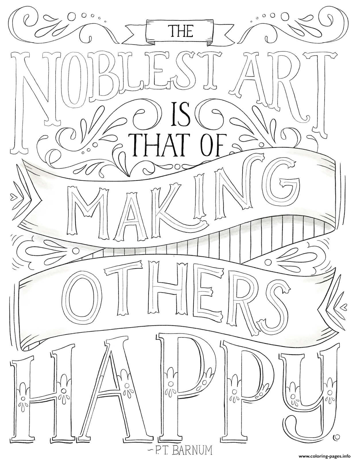 Art Is Making Others Happy coloring pages