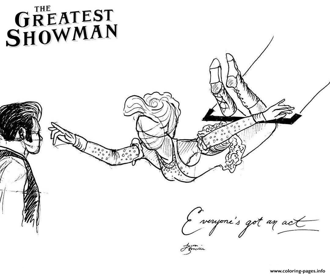 The Greatest Showman Line Art Coloring Pages Printable