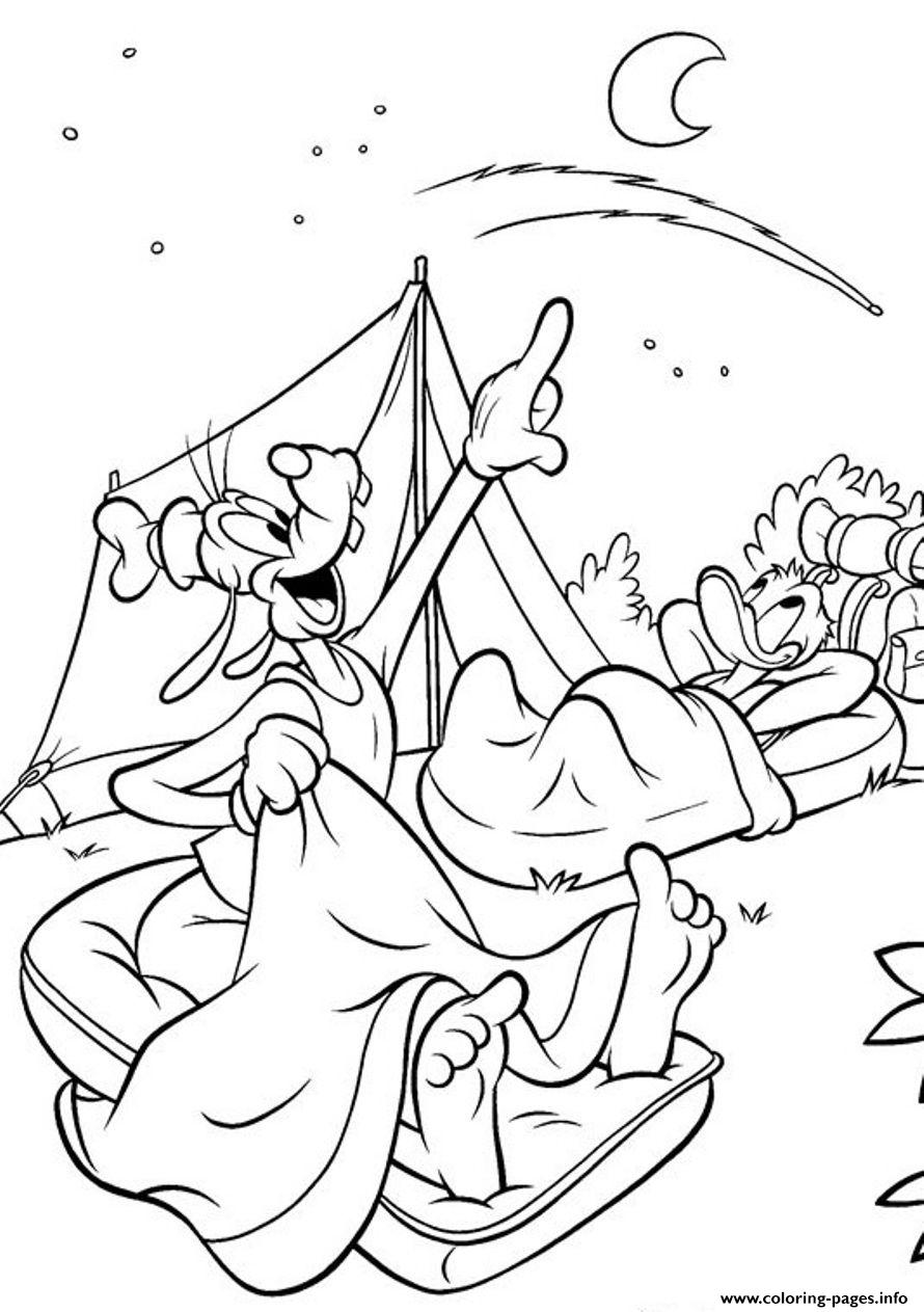 Camping Disney Kids Coloring Pages Printable