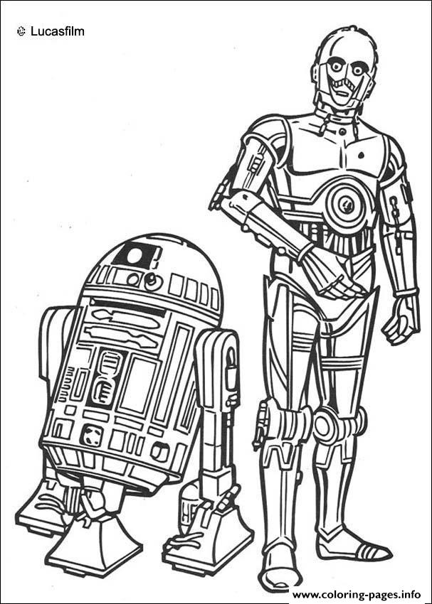Star Wars R2 D2 Et C3PO coloring pages