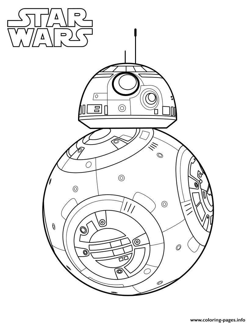 picture relating to Bb 8 Printable known as BB 8 Star Wars 7 Coloring Web pages Printable