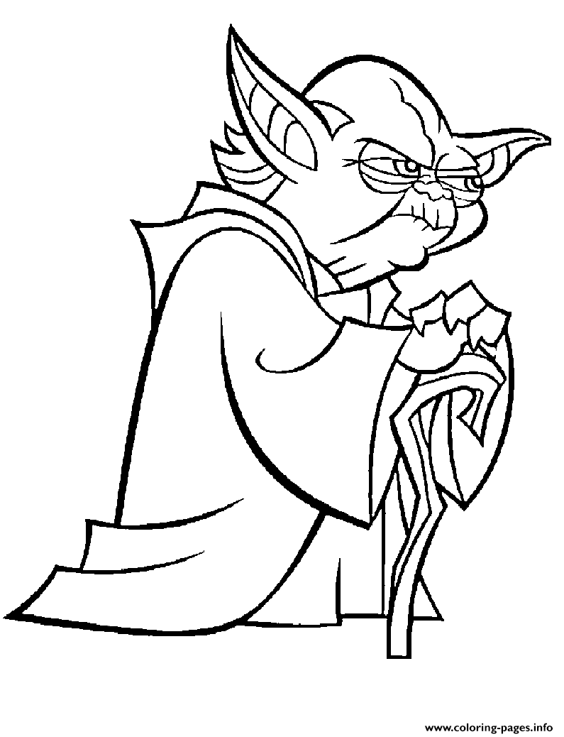 Master Yoda Clonewars Jedi coloring pages