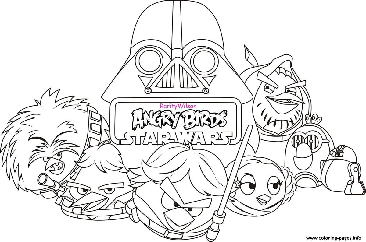 Angry Birds Star Wars 8 coloring pages