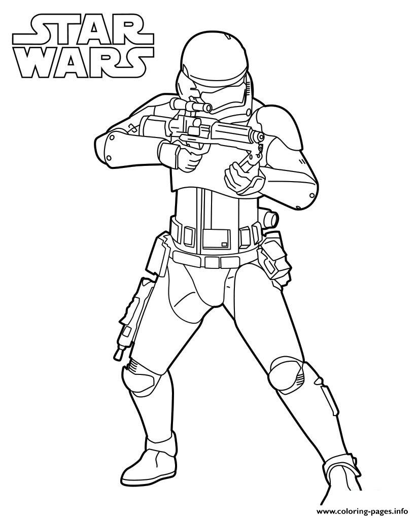 Strormtrooper Star Wars 7 coloring pages
