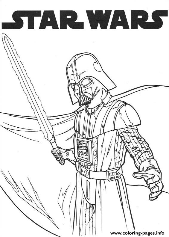 Dark Vador Star Wars coloring pages