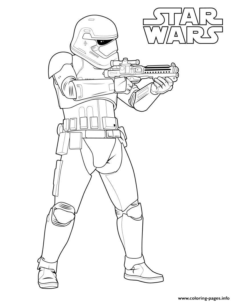 Stormtrooper Star Wars 7 coloring pages