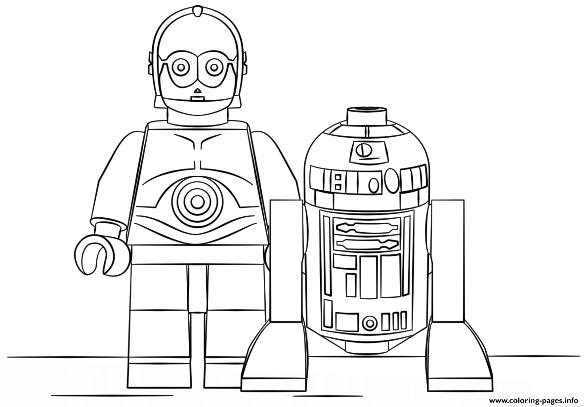 Lego R2d2 And C3po coloring pages