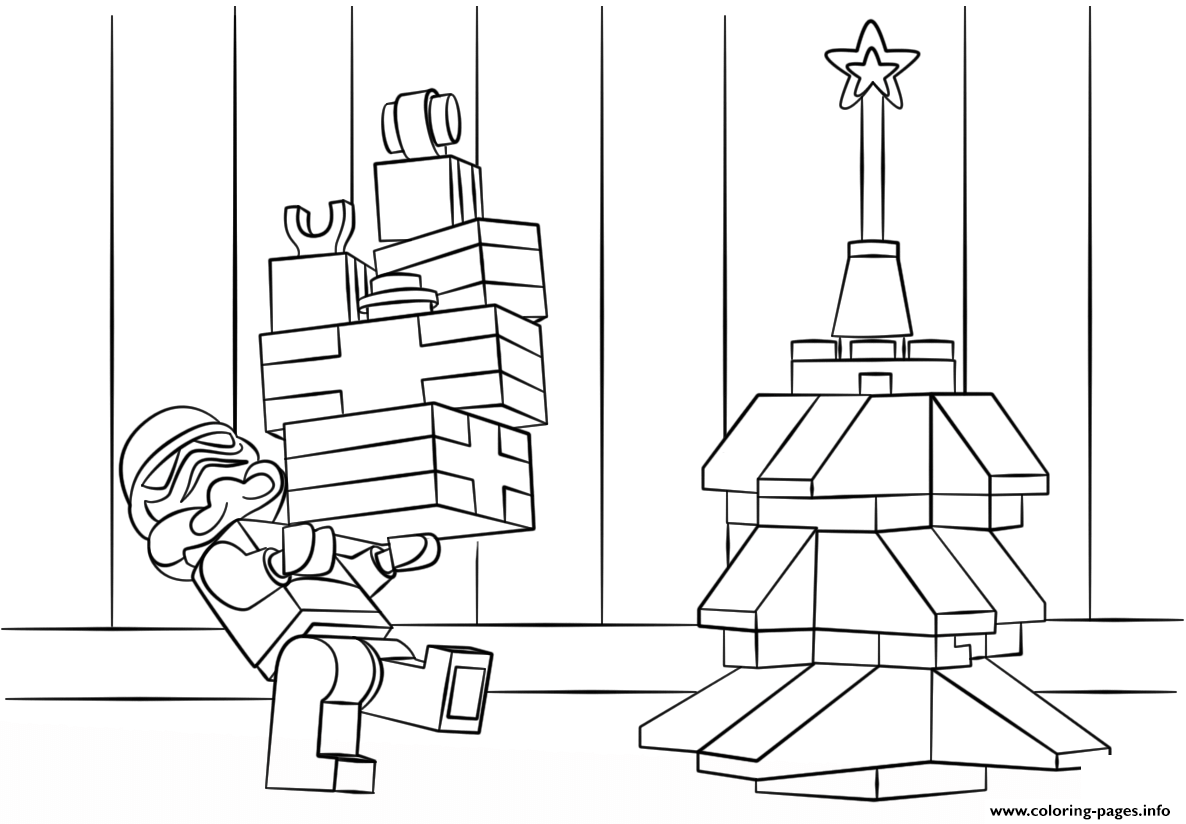 Lego Star Wars Clone Christmas coloring pages