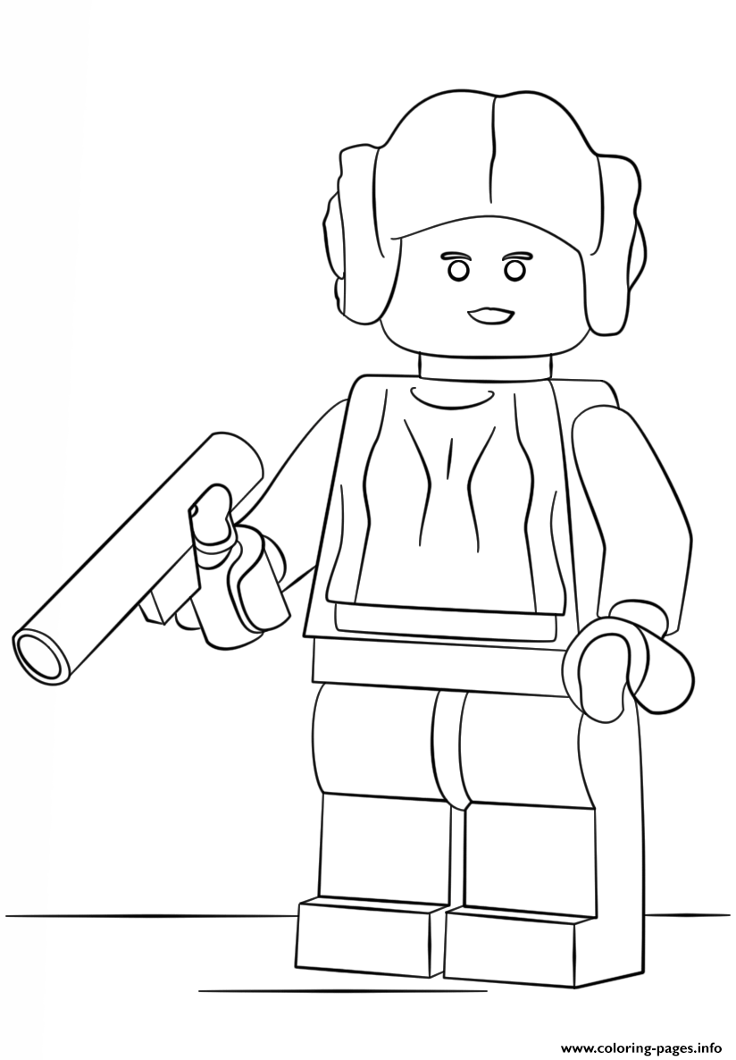 Lego Princess Leia coloring pages