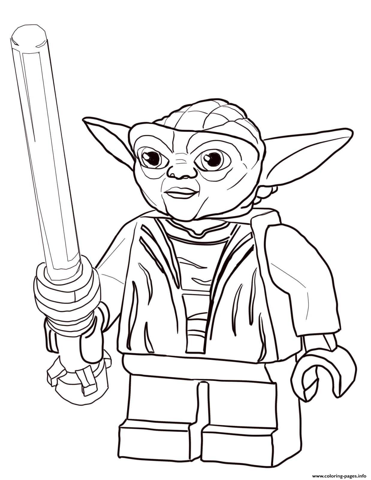 - Lego Star Wars Master Yoda Coloring Pages Printable