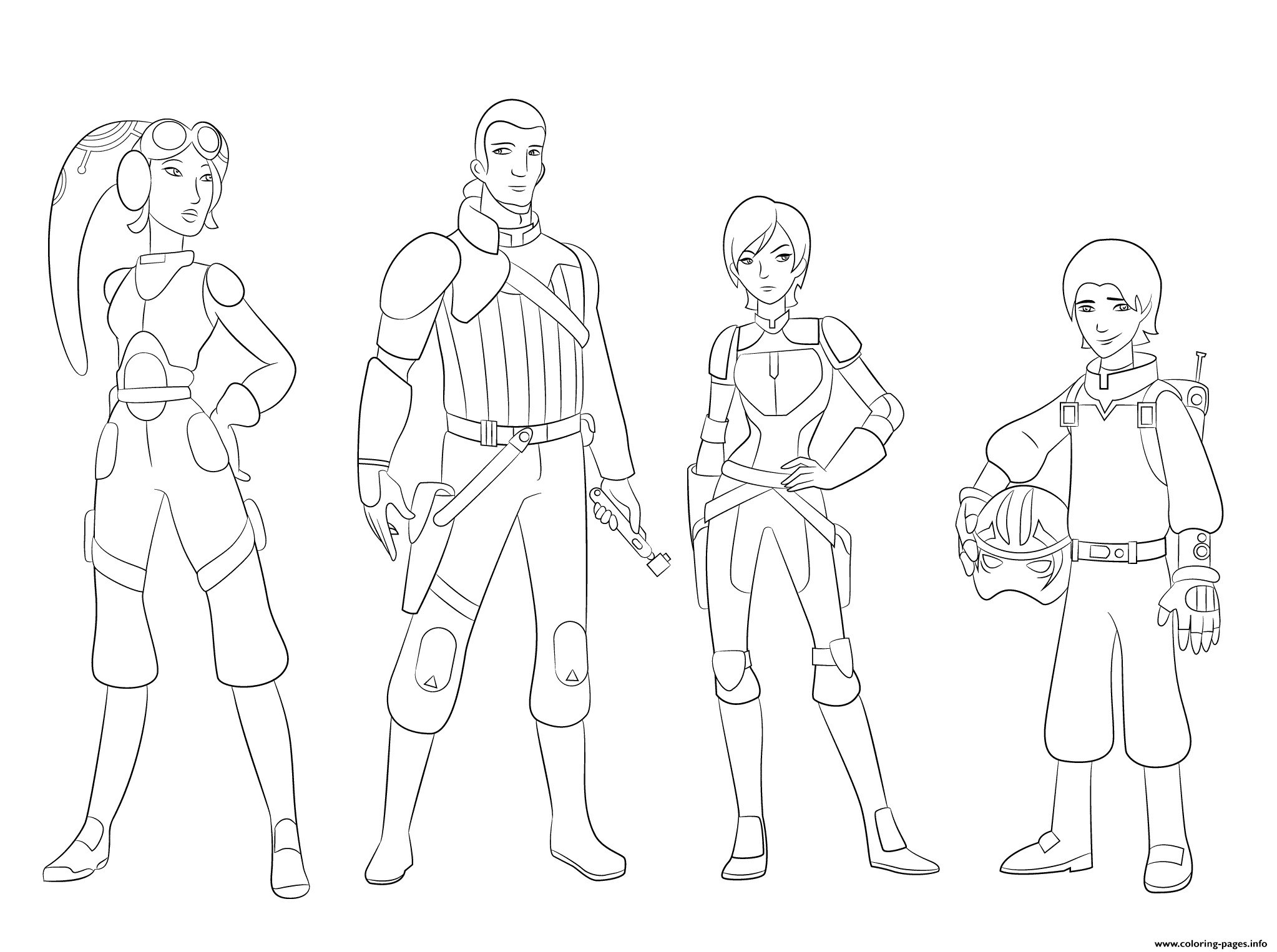 Star Wars Rebels Characterss coloring pages