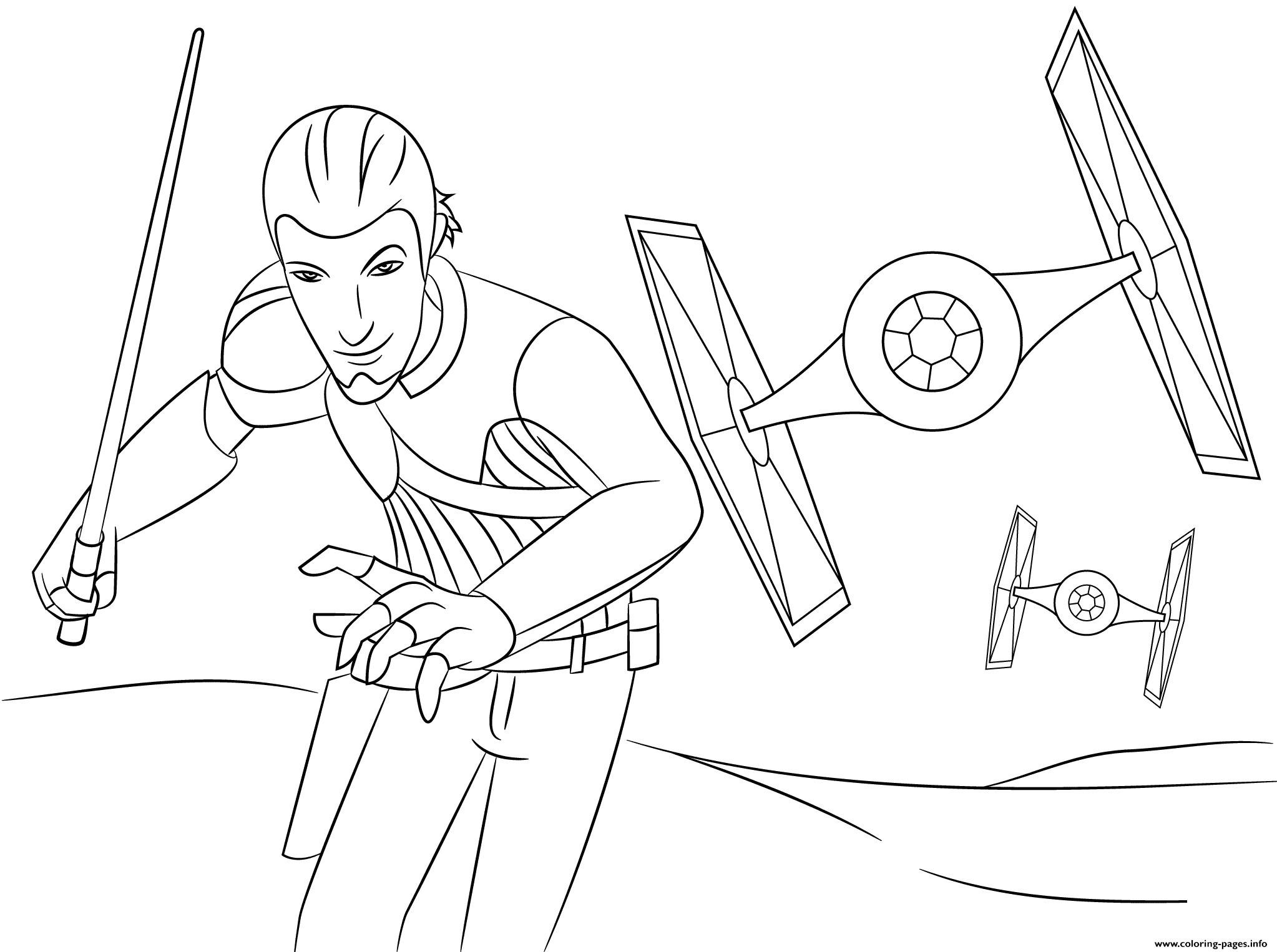 Star Wars Rebels Kanans Coloring Pages Printable