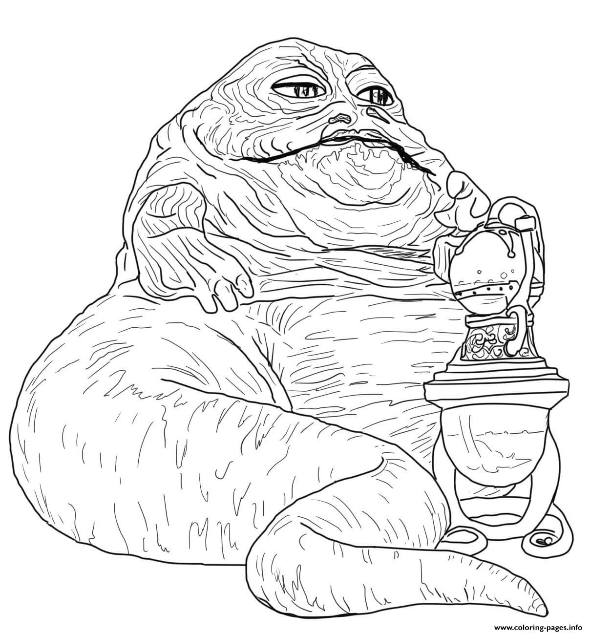 Jabba The Hutt Star Wars Episode VI Return Of The Jedi coloring pages