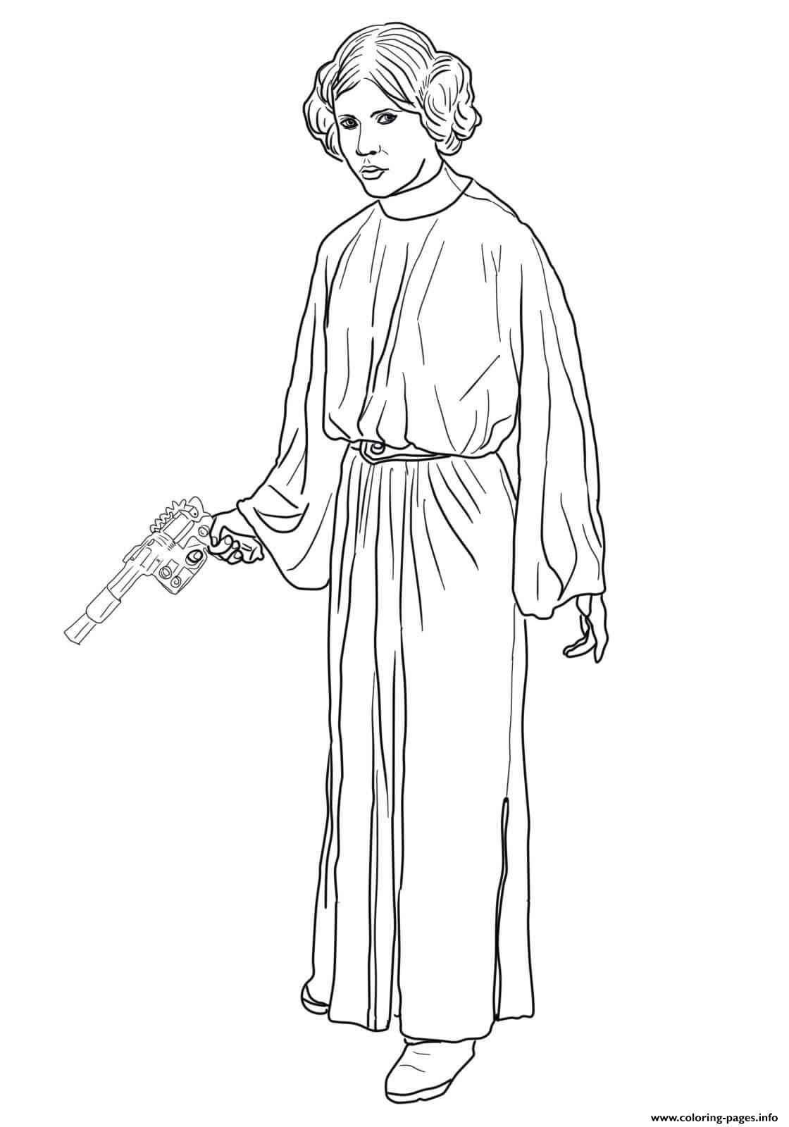 Princess Leia Star Wars Episode VI Return Of The Jedi coloring pages
