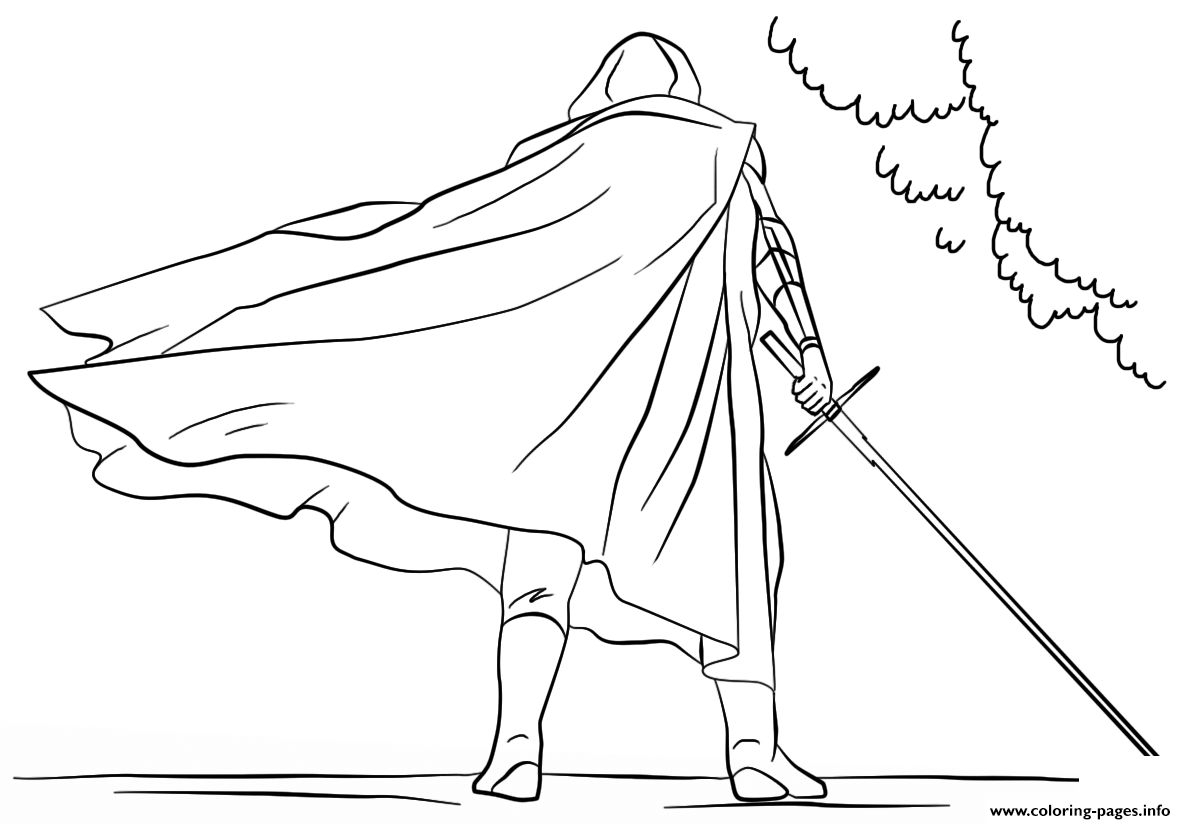 7 Kylo Ren Star Wars Episode VII The Force Awakens coloring pages