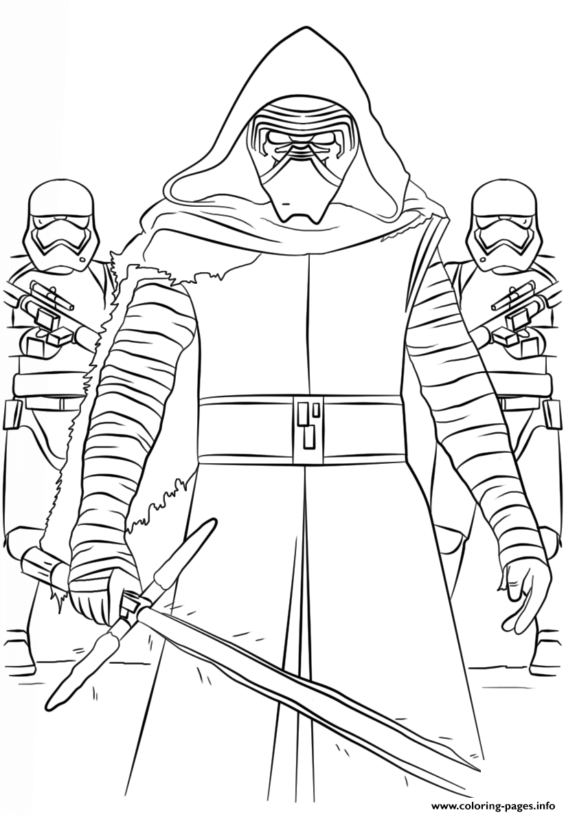 Kylo Ren And The First Order Star Wars Episode VII The Force Awakens coloring pages